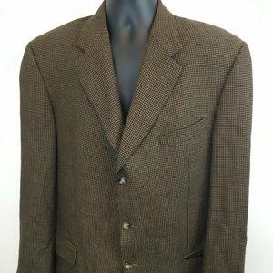 Burberry London Men's Brown Wool Suit Jacket 42 L